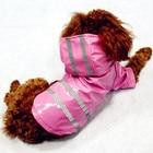 100% Waterproof Dog Raincoat Reflective Strip Pet Dog Clothes Raincoat Glisten For Small Medium Puppy Dog Raincoat Hooded 4Color