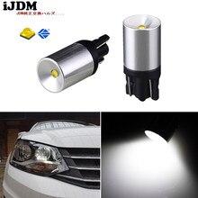 IJDM-bombillas LED de xenón para luces de posición de estacionamiento o de matrícula, T10, 12V, 6000K, blanco, XB-D, T10, 168, 194, 2825, W5W, 4 Uds.