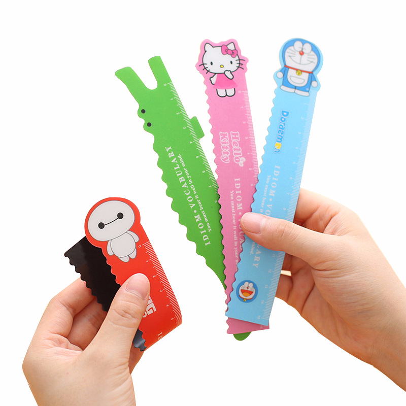 Cute Cartoon Animal Magnetic Bendable Ruler Student Learning Drawing Measuring Tool School Promotional Gift Stationery 1 Pcs
