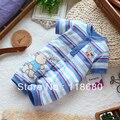 Новый 2016 ребенка и детской одежды детские ползунки летнего мальчика милые полосатые комбинезон новорожденных животных короткими рукавами общая детская одежда