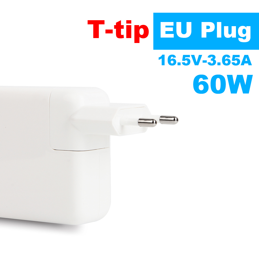 Brand New! 60W 16.5V-3.65A T-tip Laptop Power Adapter Charger For Apple MacBook Pro Retina 13'' A1425 A1435 A1502 EU Plug