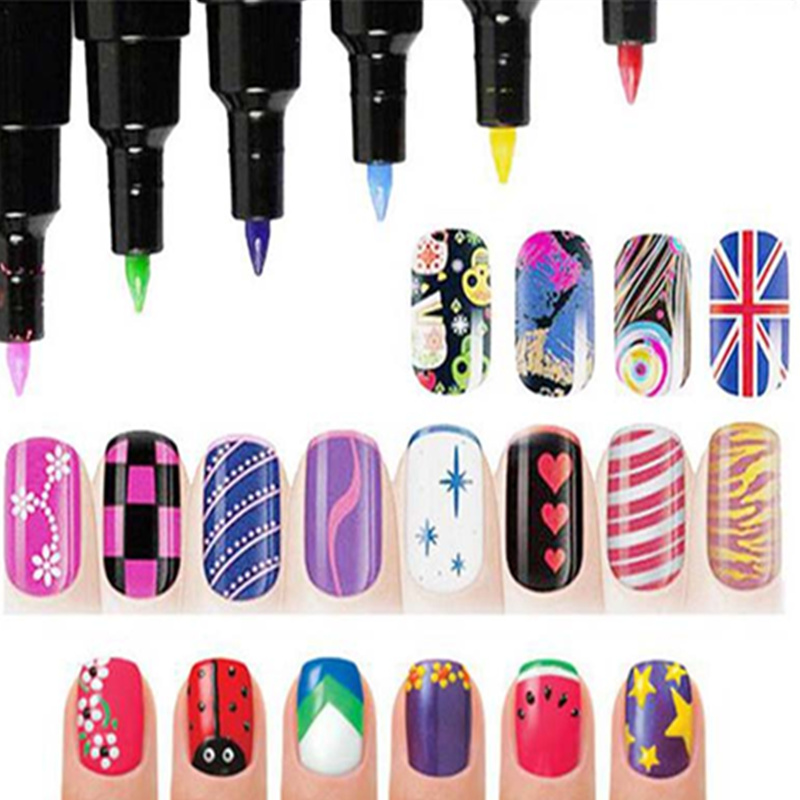 1 Pcs Multicolor Nail Art Pen 3d Nail Art Diy Decoration Nails