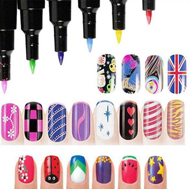 1 pcs multicolor nail art pen 3d nail art diy decoration nails 1 pcs multicolor nail art pen 3d nail art diy decoration nails polish pen nail paint prinsesfo Choice Image