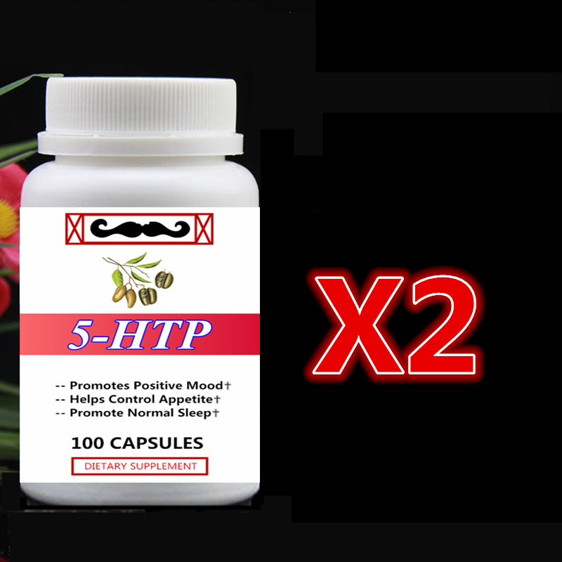 2 bottle 200pcs 5-HTP,Promotes Positive Mood,Helps Control Appetite and Promote Normal Sleep Reduce Stress,5HTP art and appetite