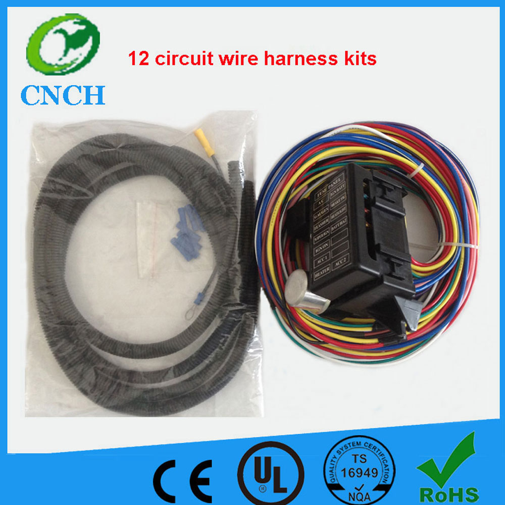 US $86.98 |CNCH 12 Circuit Universal Wire Harness Kits Muscle Car Hot on universal wiring harness kit, universal hot water heaters for cars, universal painless wiring harness, universal wiring harness diagram, universal hot rod motor mounts, universal gm wiring harness, universal hot rod mirrors,