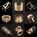 Fashion Vintage Bracelets 2016 Geometric Style Pop Punk Metal Women Unisex Charm Bracelets Bangles