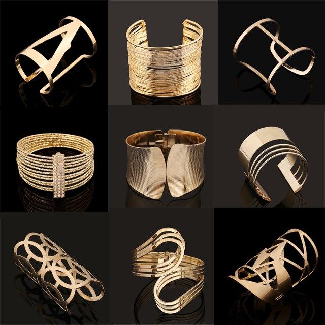 Fashion Vintage Bracelets 2017 Geometric Style Pop Punk Metal Women Unisex Charm
