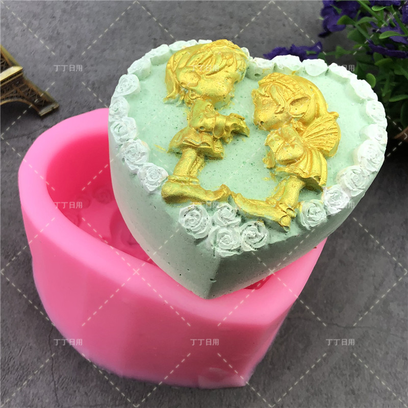 Baking Accessories Fondant Cake Mold Bouquet Loving Heart Shape Valentine's Day Gift 3D Rose Flower 1 PC Cake Decorating Tools