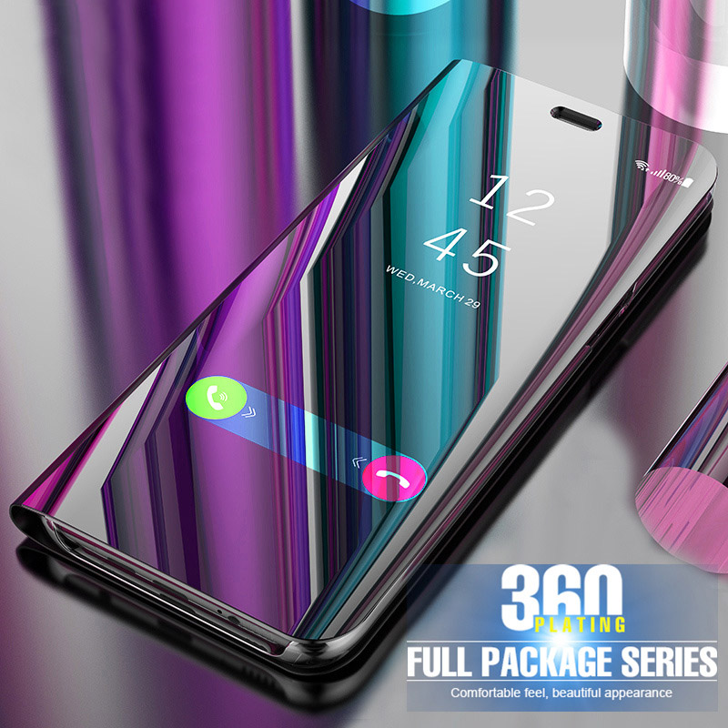 For <font><b>Samsung</b></font> Galaxy <font><b>S10</b></font> <font><b>Case</b></font> Clear Smart View <font><b>Mirror</b></font> <font><b>Flip</b></font> Cover For <font><b>Samsung</b></font> Galaxy <font><b>S10</b></font> Plus S10E M10 M20 S 10 M105F M205F Fundas image