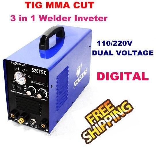 Inverter Tig Welding Tig Welder Multifunction Inverter DC TIG/MMA/CUT Welding Machine/Equipment/Welders Micro Welder 520TSC