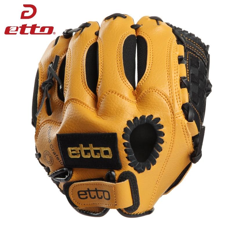 Etto 10 hüvelykes gyerekek baseball kesztyű bal kéz softball kesztyű kiváló minőségű baseball edzés kesztyű gyerek gyermek HOB001 Z
