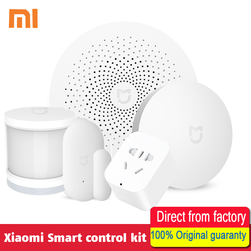 100% Original Xiaomi Smart Home Kit Gate way Intelligent Multifunction Wireless Switch Human Body Sensor Door Window Sensor