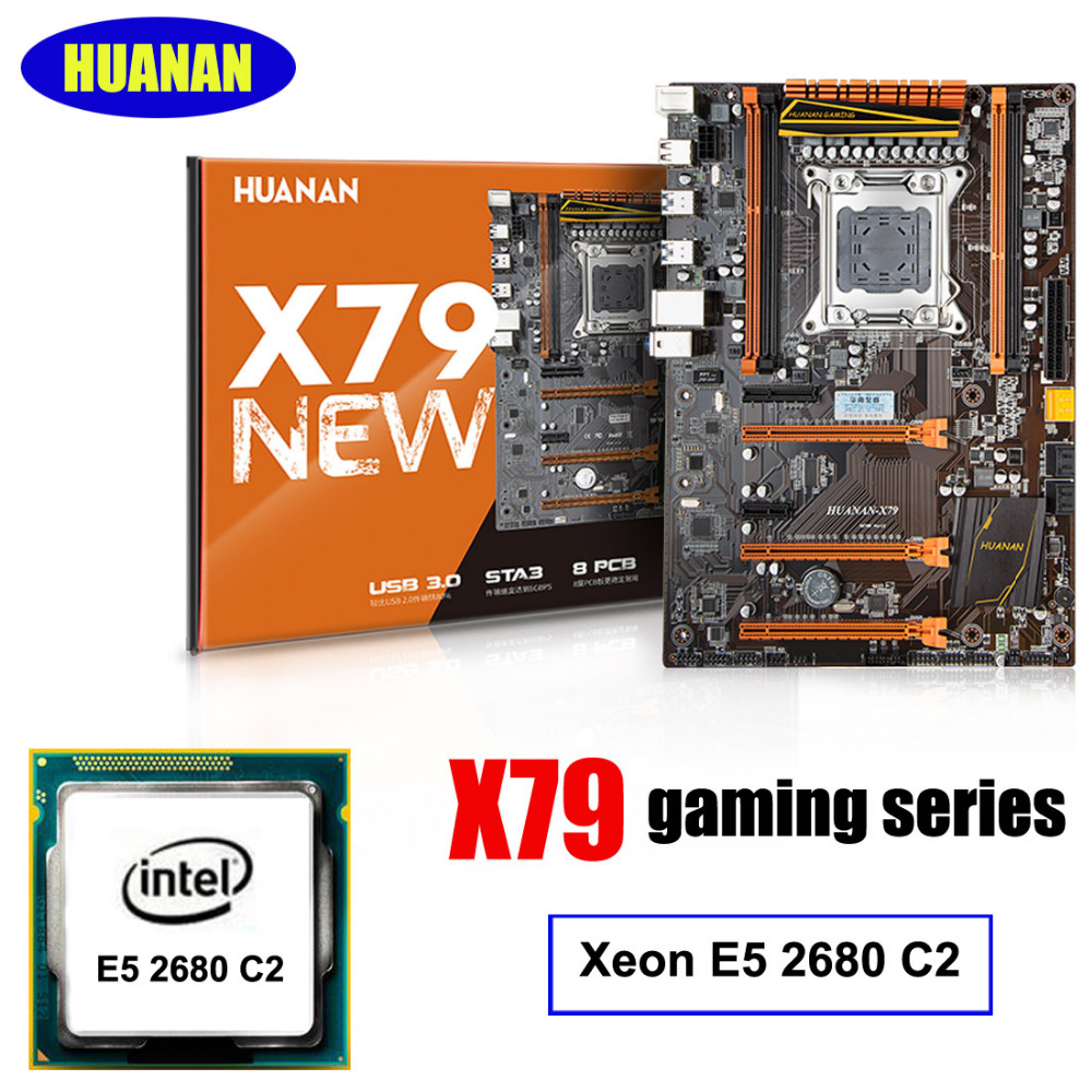 New arrival HUANAN X79 deluxe gaming motherboard Intel Xeon E5 2680 C2 support 64G(4*16G) memorry 2 years warranty maison jules new vanilla metallic sweater msrp $79 5 dbfl