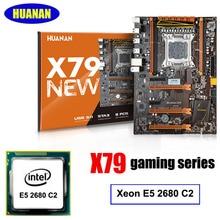 Nueva llegada deluxe X79 juegos motherboard Intel Xeon E5 2680 C2 HUANAN apoyo 64G (4*16G) memorry 2 años de garantía