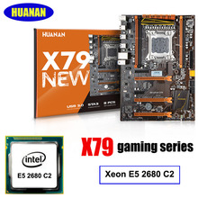 Neue ankunft HUANAN X79 deluxe gaming motherboard Intel Xeon E5 2680 C2 unterstützung 64G (4*16G) memorry 2 jahre garantie