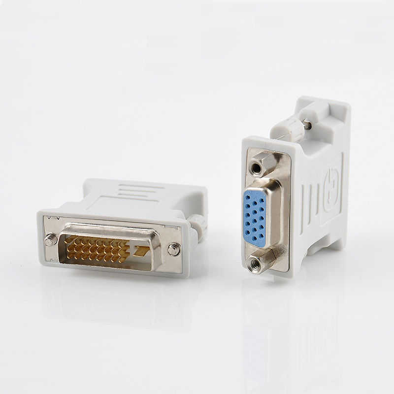 DVI-D Male naar VGA Female Video Converter Adapter DVI-D 24 + 1Pin naar 15 Pin VGA Adapter Kabel voor PC laptop