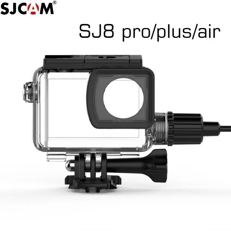 Original SJCAM SJ8 Pro/plus/Air Motorcycle Waterproof Case For SJ8 Charging Case Charger Housing Camera Accessories Clownfish