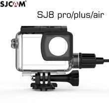 Orijinal SJCAM SJ8 Pro/artı/hava motosiklet su geçirmez kılıf SJ8 şarj kutusu şarj cihazı konut kamera aksesuarları palyaço balığı