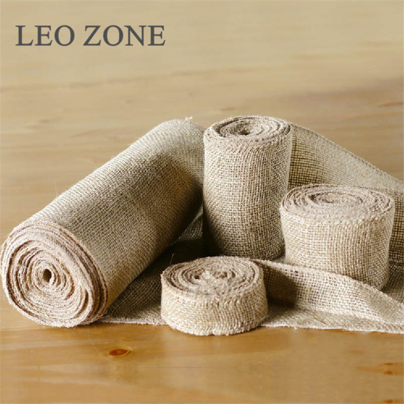5 10 15 30CM10M Jute Burlap Hessian Wedding Decor Decorations Fabric Mariage Decoration Event Party Supplies Toile De In From Home