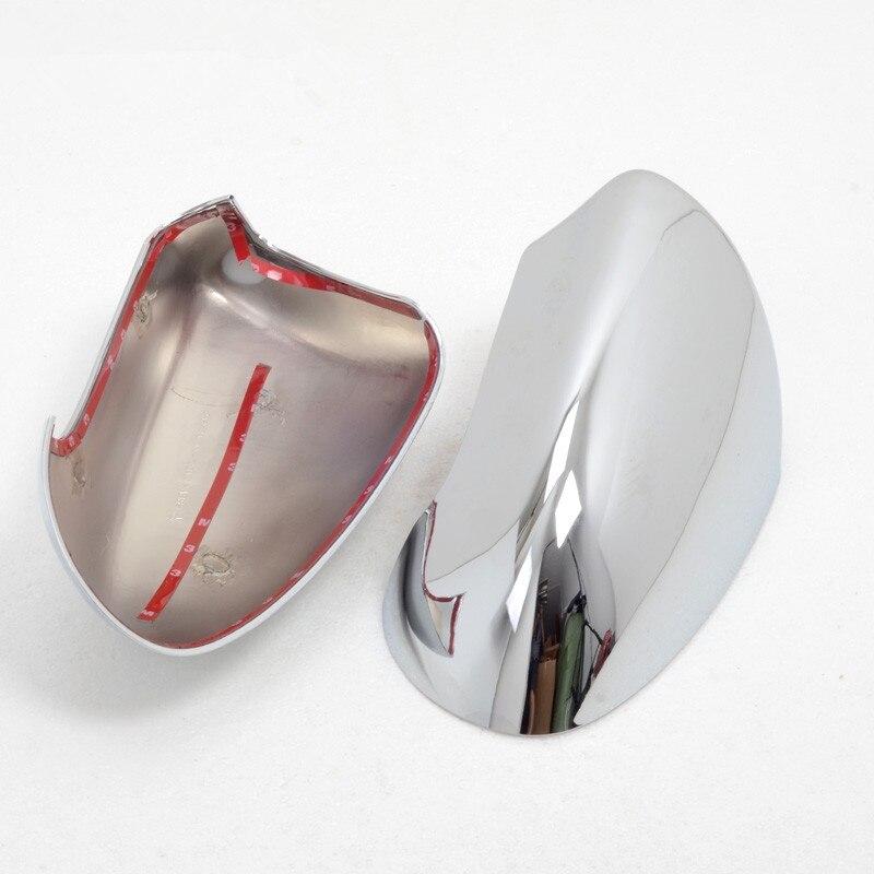2 pièces ABS chromé côté porte rétroviseur capots de bordure accessoires de voiture adaptés pour Nissan Qashqai 2007 2008 2009 2010 2011 2012 2013 - 2