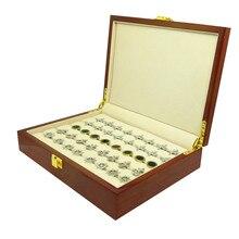 Запонки Подарочной Коробке 20 пар Высокое качество деревянная коробка Запонки box Высокое Качество Расписные Деревянные Коробки Аутентичные 240*180*55 мм