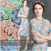 Three Dimensional Water Soluble Lace Fabric The Cloth Fabric For Sewing Clothes Dress Material Shirt Flower