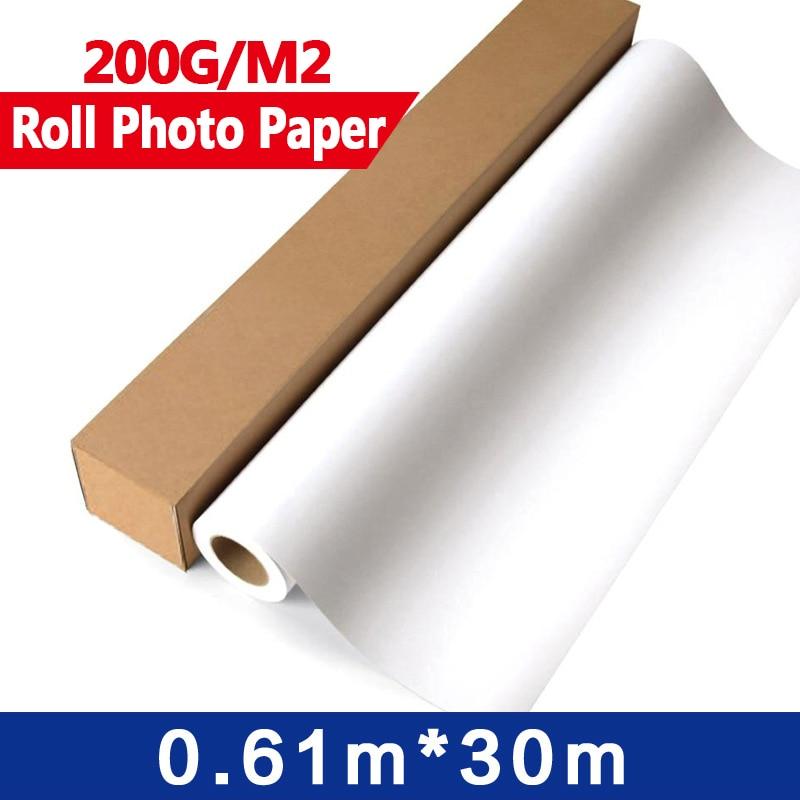 4Rolls/ctn Glossy Photo Paper Roll  0.61m x 30m   for width format inkjet printers  24 x 30 meters 150dpi encoder strip for wide format inkjet printers l5000mm x w15mm