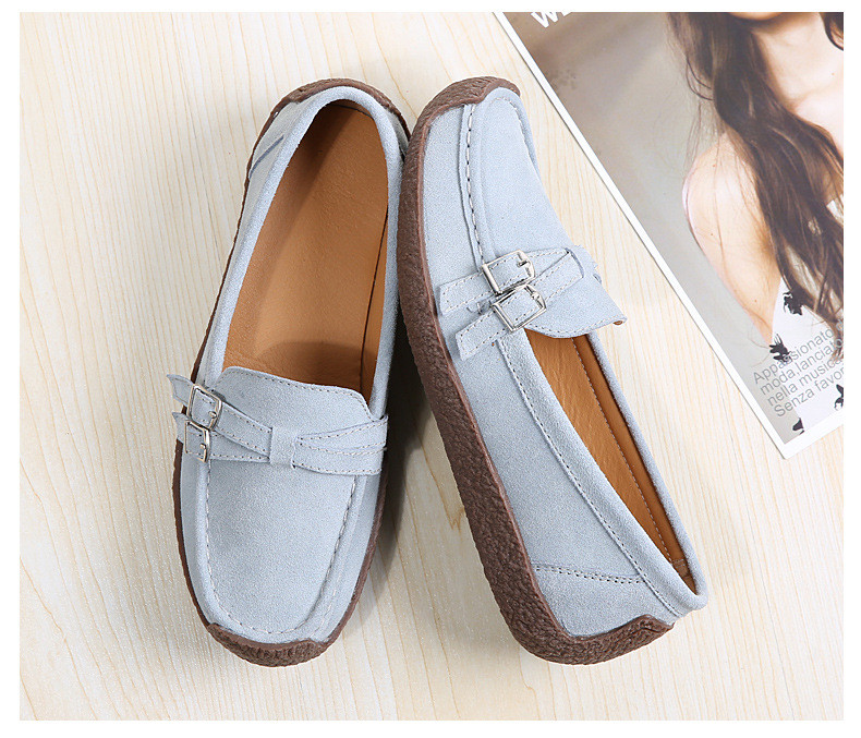 HX 7732-2019 Spring Autumn New Arrival Genuine Leather Women Flats Shoe-5