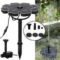 2.5W DC5 12V Solar Water Pump Solar Powered Floating Bird Bath Water Panel Fountain Pump Garden Decoration Pond Pool Patio