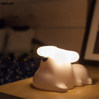 3D LED Puppy Xương Đêm Đèn Sạc USB Cảm Biến Cảm Ứng Dimmer Đêm Đèn Cho Bé Phòng Ngủ Giáng Sinh Trẻ Em Trang Trí Quà Tặng