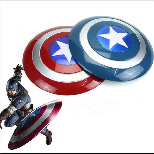 New Super héroe vengador Marvel capitán américa Shield LED emisor de luz y  sonido propiedad Cosplay juguetes de los niños para los regalos en