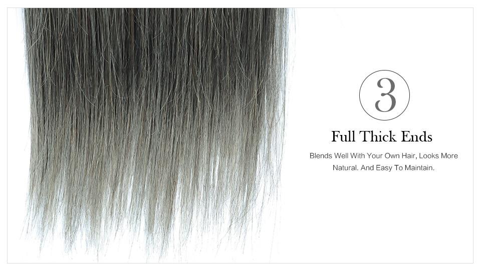 Brilhante estrela cabelo cinza pacotes de cabelo
