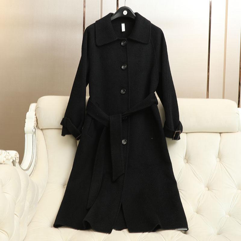 De Survêtement Outwear Manteau Hiver Laine Femmes Nouvelle Mince Arrivée Femelle Longueur 2018 Moyen Alpaga x8wHqHz