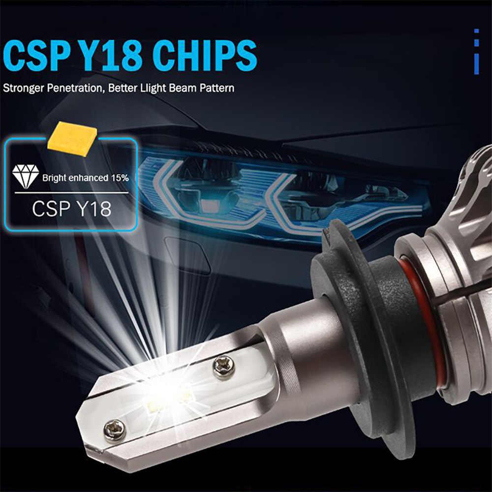 CN360 2 pcs H8 H11 אוטומטי Led הנורה CSP שבב פנס 12 V 8000LM רכב פנס 6500 k לבן טהור עמיד למים Led אור חדש הגעה