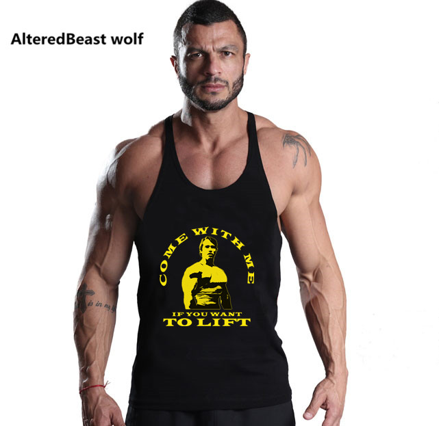 2017 Men   Tank     Tops   Arnold Print brand   Tank     top   Bodybuilding men Stringer Fitness men gyms Sleeveless Shirts Muscle   Tank     Tops