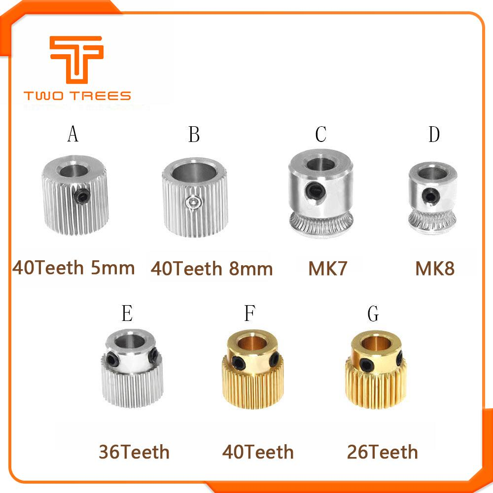 12x Extruder Drive Gear 26 Teeth 5mm Bore Copper 1.75mm Filament For 3D Printer