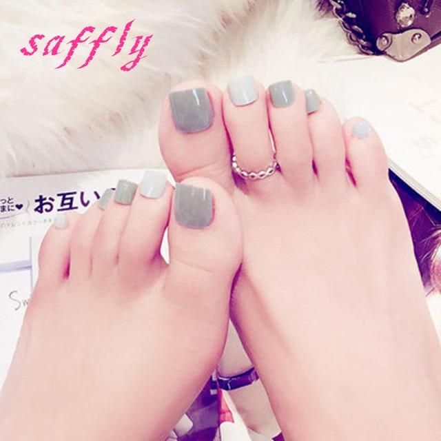 2017 summer beautiful two tone mixing toenails Solid color foot ...