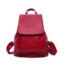 Женщины рюкзак кожи женщин сумка студенческие рюкзаки для подростков девочек ранцы дорожная сумка рюкзак mochila femininas