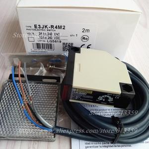 Image 3 - E3JK R4M2 Omron ใหม่ Photoelectric Switch Sensor ระยะทาง 4 เมตรปรับ AC/DC 5 สายแผ่นสะท้อนแสง