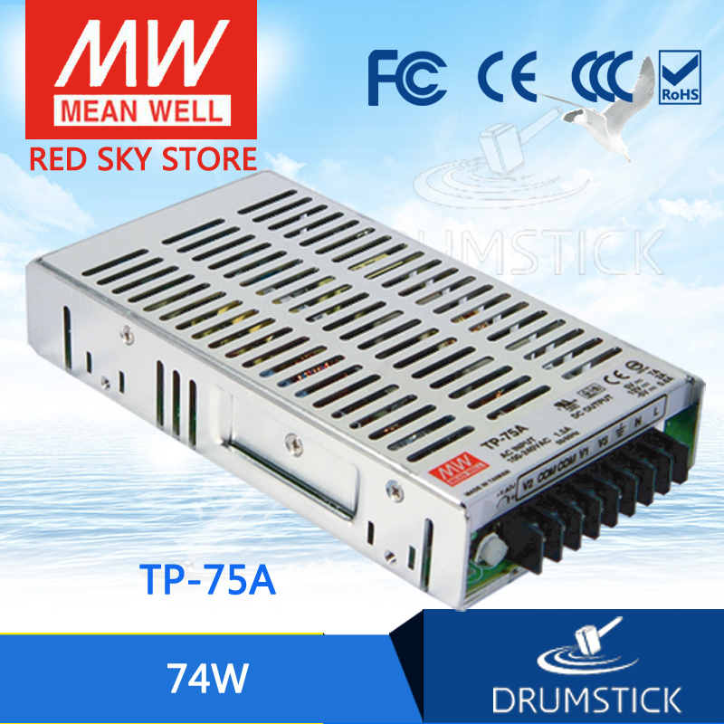 цена на Original MEAN WELL TP-75A meanwell TP-75 74W Triple Output with PFC Function Power Supply