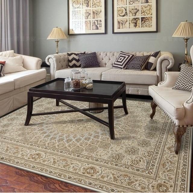 Fesselnd Big Size Klassische Persische Wohnzimmer Teppich, Kaffee Tisch Teppich,  Amerikanischen Stil Beige Farbe Hause