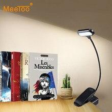 Luminária led de mesa com clipe, alimentada por bateria, luz noturna para livros, para crianças, estudantes, luzes de cabeceira, para trabalho de estudo, lâmpadas de leitura