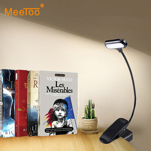 LED Table Lamp With Clip Battery Powered Night Lamp Book Light Children Students Bedside Lights Study Work Reading Desk Lamps