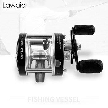 Lawaia Fishing Reel 5.2:1 Speed Full Metal Black Silver Drum Reel Left And Right Hand Baitcasting Reel Handle Gear Fishing Tools