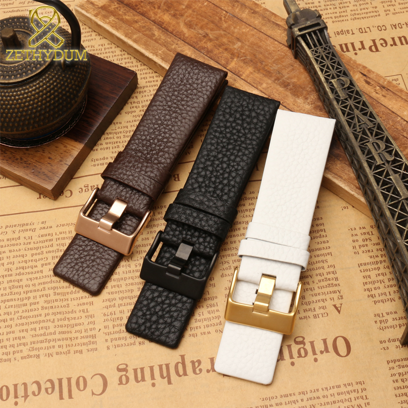Genuine Leather Bracelet 22 24 26 27 28 30mm Watchband For Diesel Watch Strap Wristwatches Band DZ4323 DZ1657 DZ1405 Watch Band