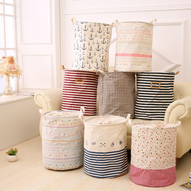 Superbe Large Capacity Folding Cottonu0026Linen Kids Storage Bins Organizer Bag Laundry  Basket Toy Dirty Cothes Storage Basket