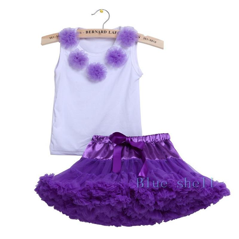 2017 Toddle Baby Clothing set Tutu Pettiskirt Set baby Birthday Party 2PC Cotton Tops+Chiffon Fluffy Tutu Skirt For 7-24month new hot sail 2015 children girl chiffon top skirt set baby pettiskirt tutu top girls tutu skirt free shipping
