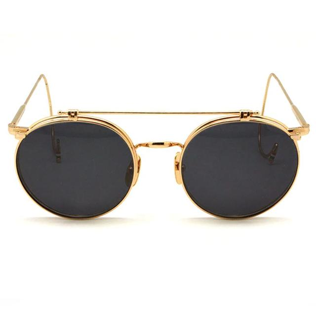 fc68308a3b4 Thom Browne Eyewear TB-001 Sunglasses retro flip sun glasses steampunk  Titanium Acetate FrameGlasses lunette de soleil femme
