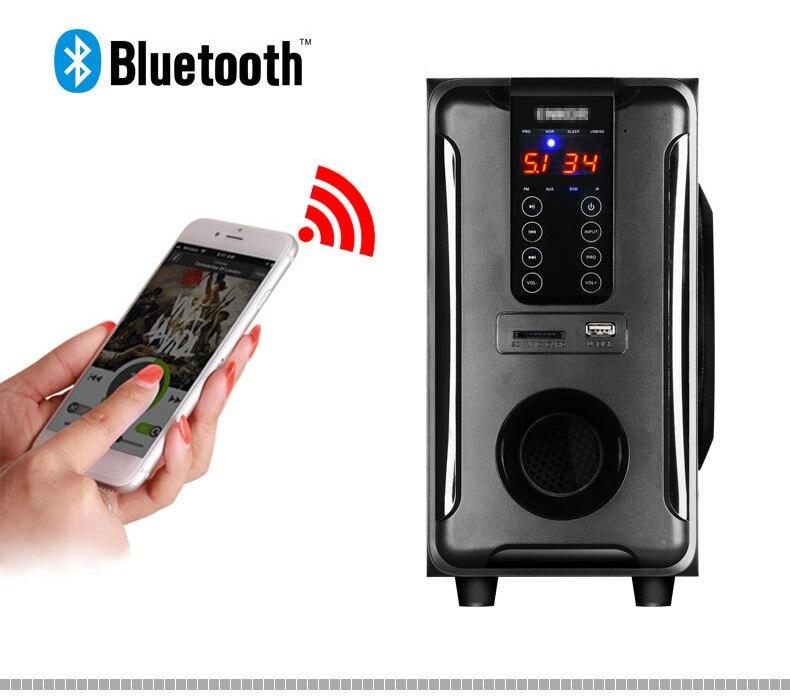Système de haut-parleurs Home cinéma 5.1 canaux, Bluetooth \ USB \ SD \ FM Radio télécommande écran tactile, Dolby Pro logique son Surround - 4