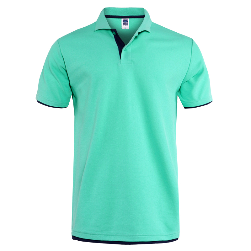 Mens Polo Shirt Brands Clothing short Sleeve Summer Shirt Man Black Cotton Polo Shirt Men Plus Size Polo Shirts 45